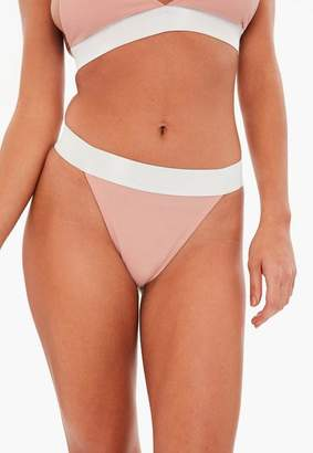 Missguided Pink Jersey Highwaisted Thong