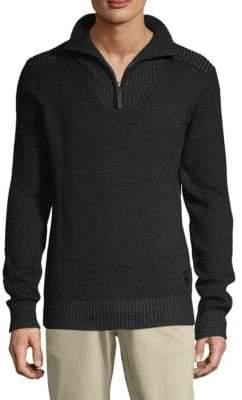 ProjekRaw Textured Mockneck Sweater