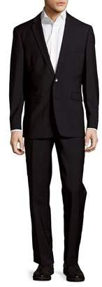 Vince Camuto Wool Buttoned Slim-fit Suit
