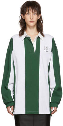 Alexander Wang Grey and Green Rugby Shirt