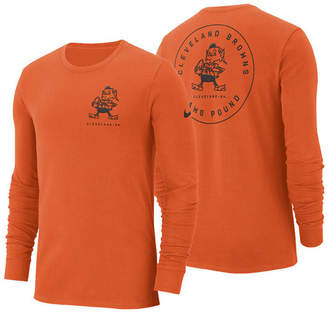 Nike Men's Cleveland Browns Heavyweight Seal Long Sleeve T-Shirt