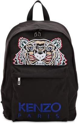 Kenzo Tiger Embroidered Nylon Canvas Backpack