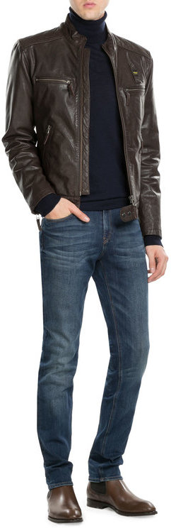 BlauerBlauer Leather Jacket