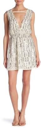 Molly Bracken Sequined Plunge Surplice Dress