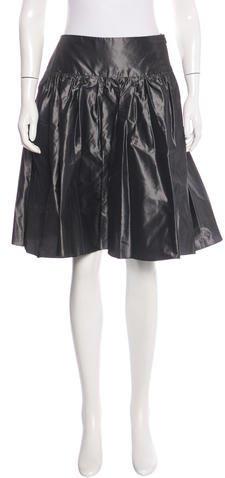 Armani Collezioni Knee-Length Silk Skirt w/ Tags