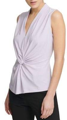 Donna Karan Sleeveless Knot Top