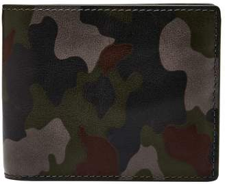 Fossil Raff Camouflage Leather Bi-Fold Wallet
