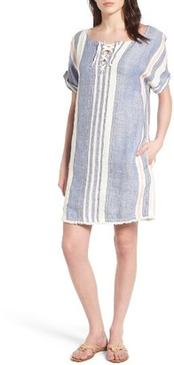 Petite Women's Caslon Lace-Up Shift Dress $79 thestylecure.com