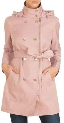 GUESS Signature Double-Breasted Trench Coat