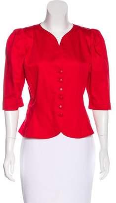 Saint Laurent Structured Short Sleeve Jacket