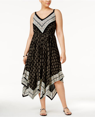 American Rag Trendy Plus Size Handkerchief-Hem Midi Dress, Only at Macy's $69.50 thestylecure.com