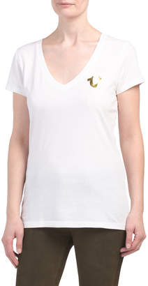 c5ed44fd2 Deep V Neck Graphic Tee For Women - ShopStyle