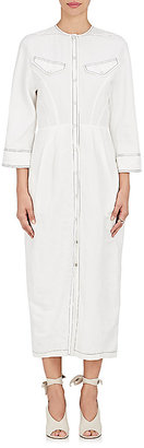 Derek Lam Women's Linen-Blend Snap-Front Shirtdress $1,595 thestylecure.com