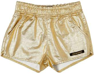 Finger In The Nose Metallic Cotton Shorts