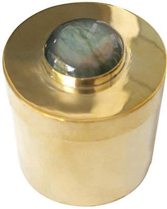 "2"" Lane Round Box - Brass/Gray - Addison Weeks"
