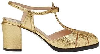 Fendi peep toe sandals