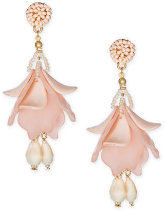 INC International Concepts I.n.c. Gold-Tone Resin Petal Shaky Drop Earrings
