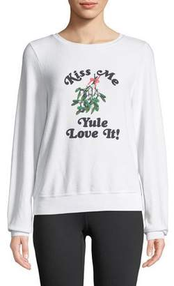 Wildfox Couture Yule Love It Graphic Pullover Sweater