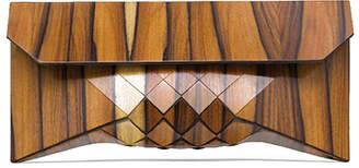 Tesler Mendelovitch Handmade Eco-Friendly Geometric Wood Clutch