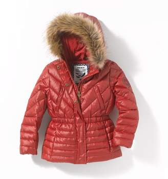Ikks JUNIOR Padded Coat with Faux Fur Hood, 3-14 Years