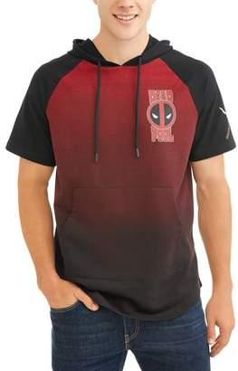 License Men's Short Sleeve Deadpool Hoodie