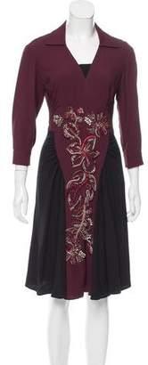 Prada Embellished Midi Dress
