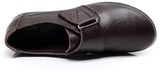 AOSERTI& flats Shoes Woman Genuine Leather Women Shoes Flats 3 Colors Buckle Slip On Women's Flat Shoes Moccasins Plus