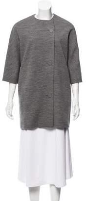 Balenciaga Short Mélange Coat