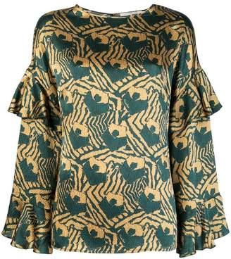 L'Autre Chose ruffled sleeve blouse