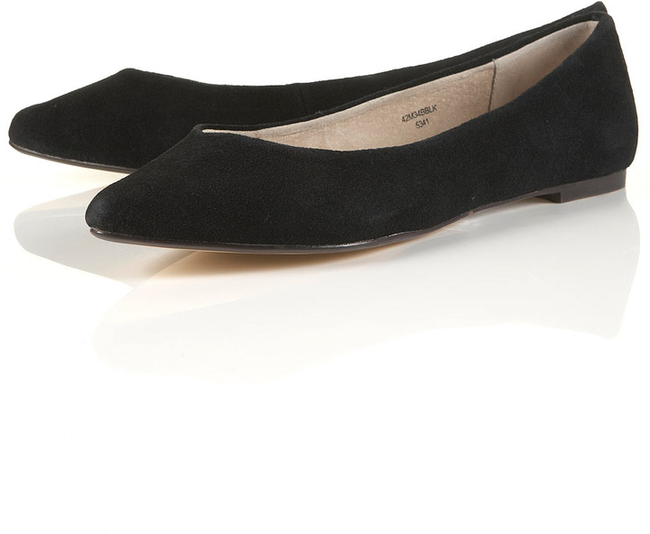 MILLY Black Suede Points