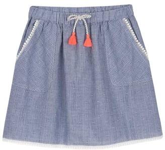 Mint Velvet Blue Striped Chambray Skirt