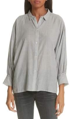 Nili Lotan Trenton Stripe Cotton Shirt