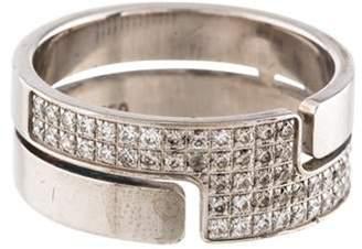 Dinh Van 18K Diamond Seventies Medium Ring white 18K Diamond Seventies Medium Ring