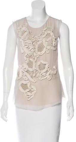 3.1 Phillip Lim 3.1 Phillip Lim Embellished Sleeveless Blouse