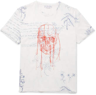 Alexander McQueen Explorer Embroidered Printed Cotton-Jersey T-Shirt