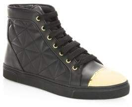 Quilted Leather High-Top Sneakers