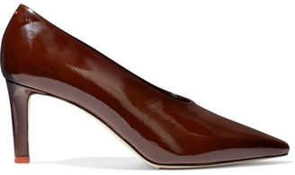 aeydē - River Patent-leather Pumps - Chocolate