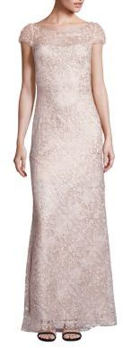 Tadashi Shoji Bird Lace Gown $548 thestylecure.com