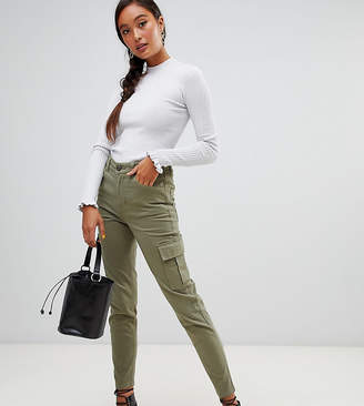 Miss Selfridge cargo pants with utility pockets in khaki