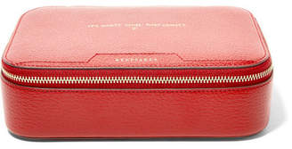 Anya Hindmarch Keepsake Large Embossed Textured-leather Case