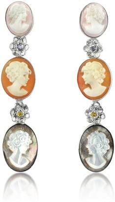 Nuovegioie Mia & Beverly Cameo Drop Earrings