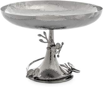 Michael Aram White Orchid Footed Stainless Steel Centerpiece Bowl