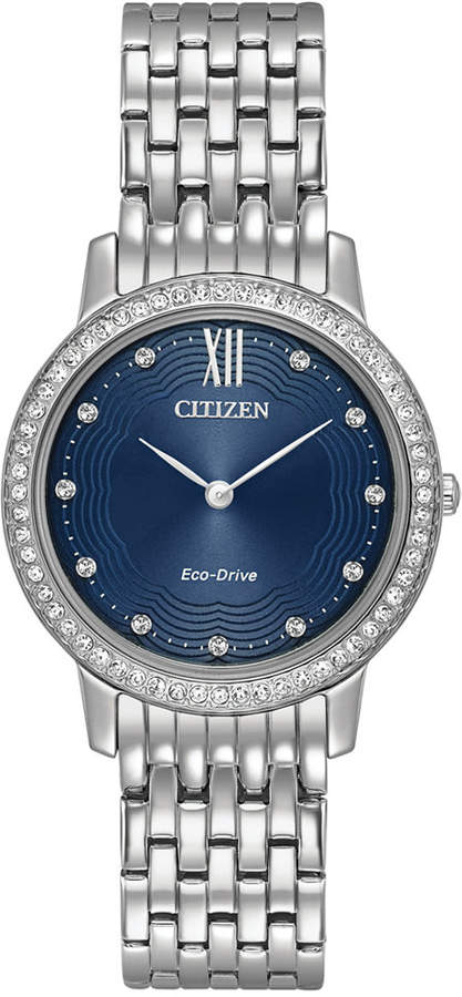 CitizenCitizen Eco-Drive Women's Silhouette Crystal Jewelry Stainless Steel Bracelet Watch 29mm EX1480-58L