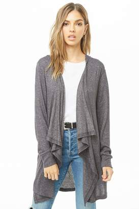 Forever 21 Hooded Drape-Front Cardigan
