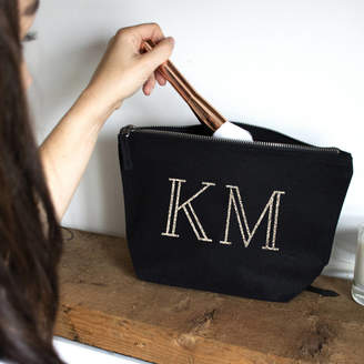 Ellie Ellie Personalised Initials Makeup Bag