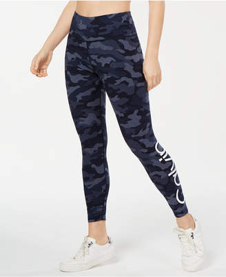 Calvin Klein Camo Printed Logo High-Waist Ankle Leggings
