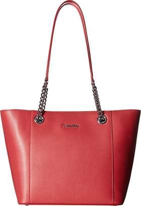 Calvin Klein Hayden Mercury Leather East/West Tote