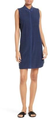 Women's Equipment Janna Eyelet Silk Shirtdress $328 thestylecure.com