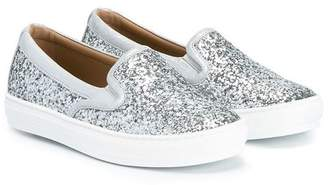 Salvatore Ferragamo Kids glitter slip-on sneakers