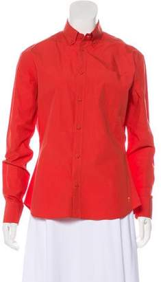 Tomas Maier Fitted Button-Up Top
